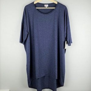 LuLaRoe Dark Blue Irma Short Sleeve Tunic Tee Top